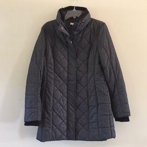 (Coldwater Creek) Long gray puffy coat
